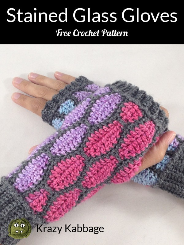 Stained Glass Fingerless Gloves