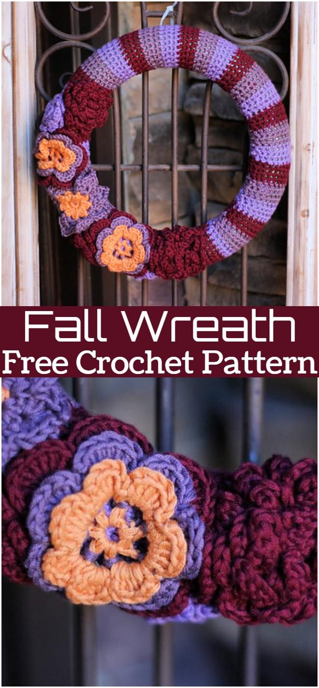 Crochet Fall Wreath Pattern