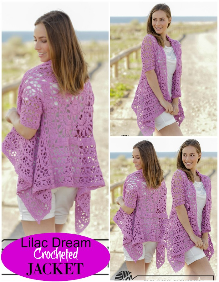 Lilac Dream Crocheted Jacket