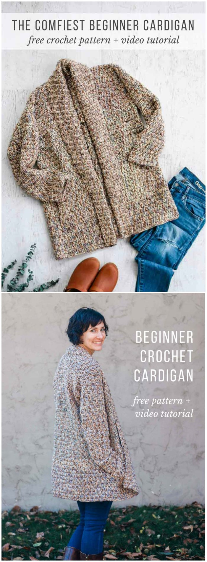 Crochet A Long Sleeve Cardigan