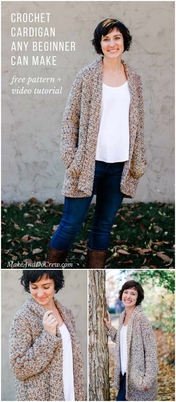 Crochet Cardigan Pattern For Beginners: