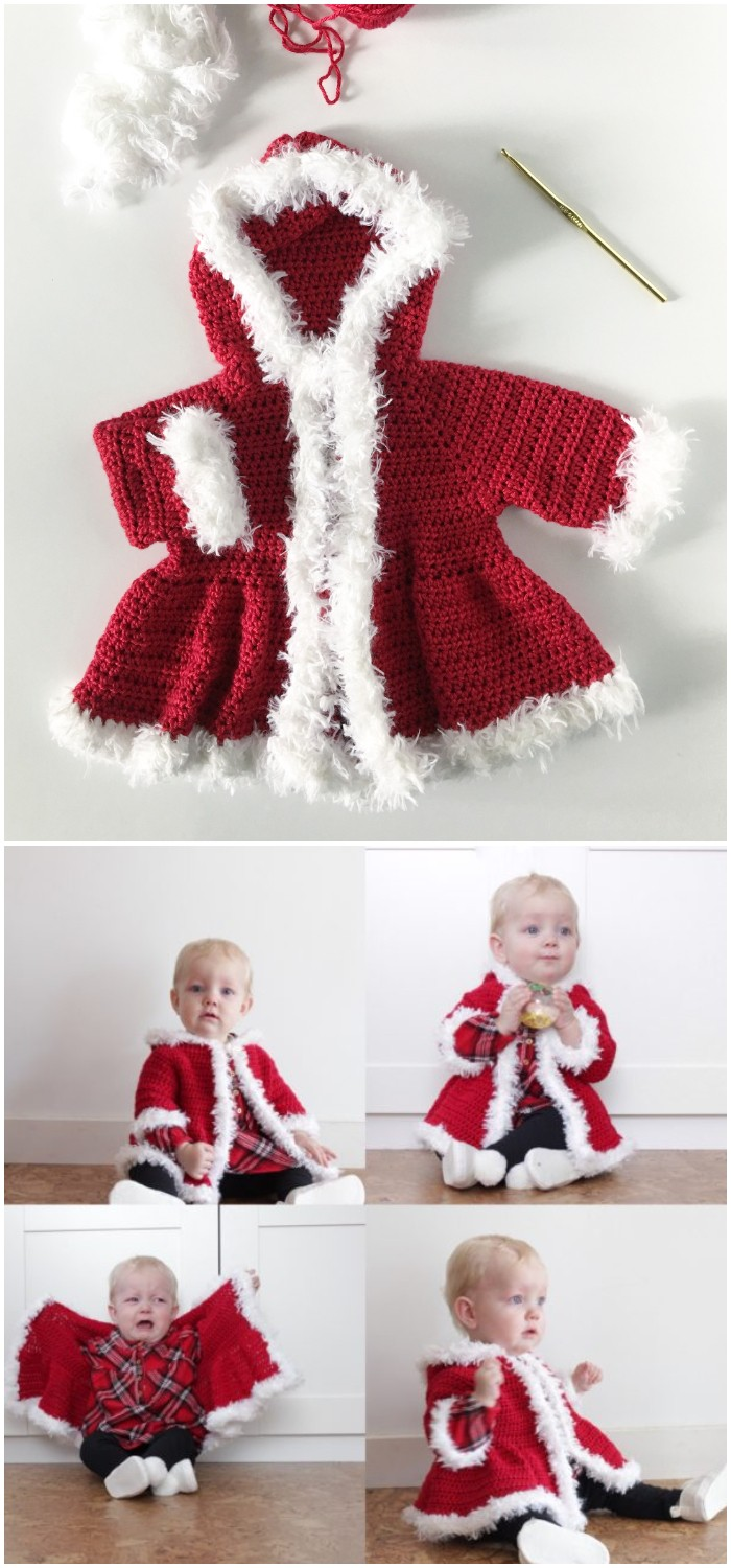 Crochet Christmas Baby Sweater