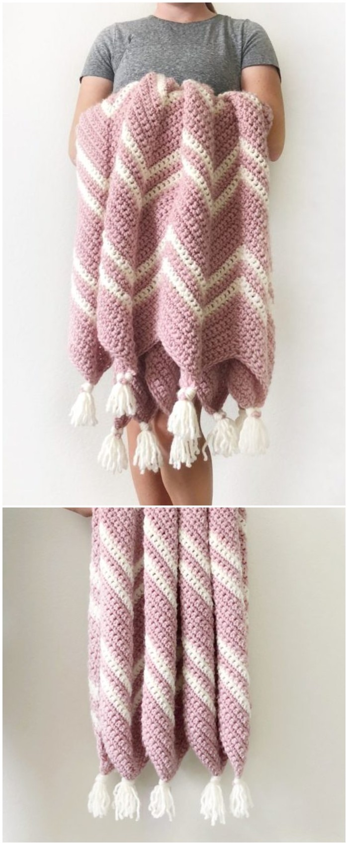 Crochet Pink Throw