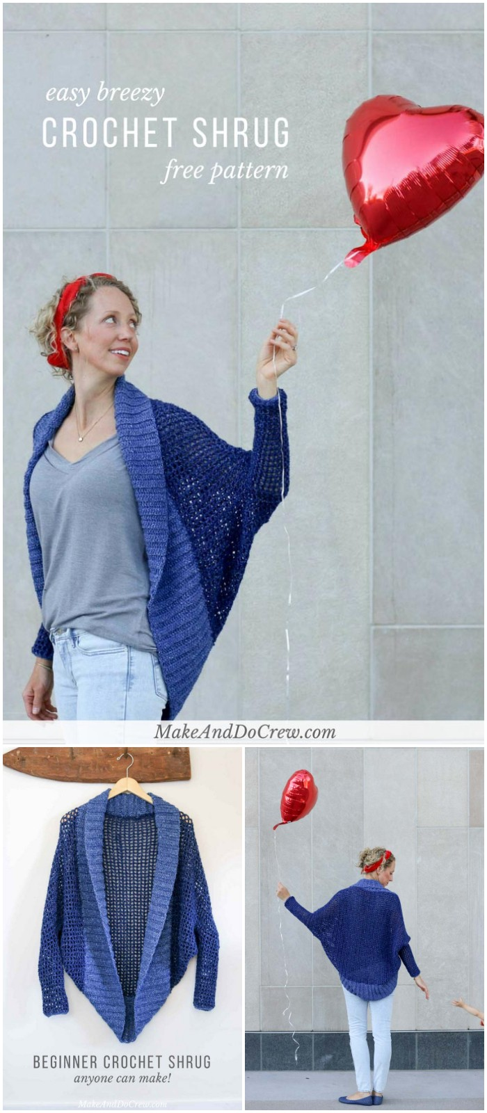 Easy Crochet Shrug  Free Pattern: