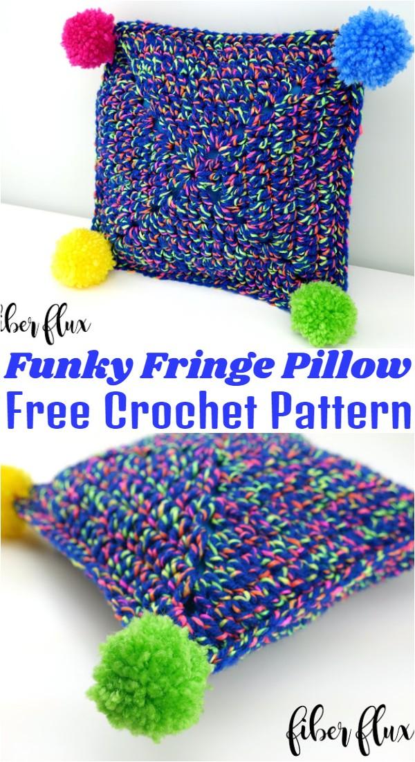 Free Crochet Party Time Mini Pillow Pattern
