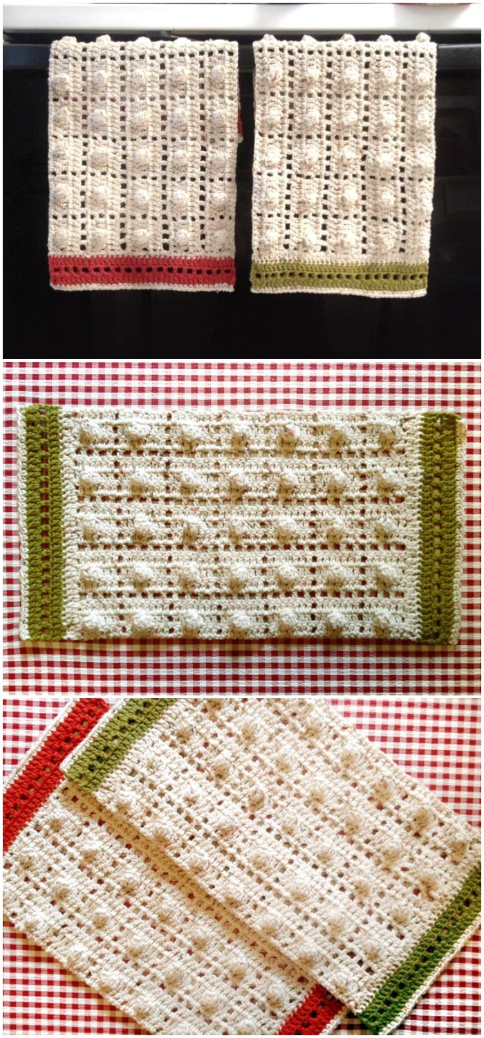 Kelsey Crochet Kitchen Towels