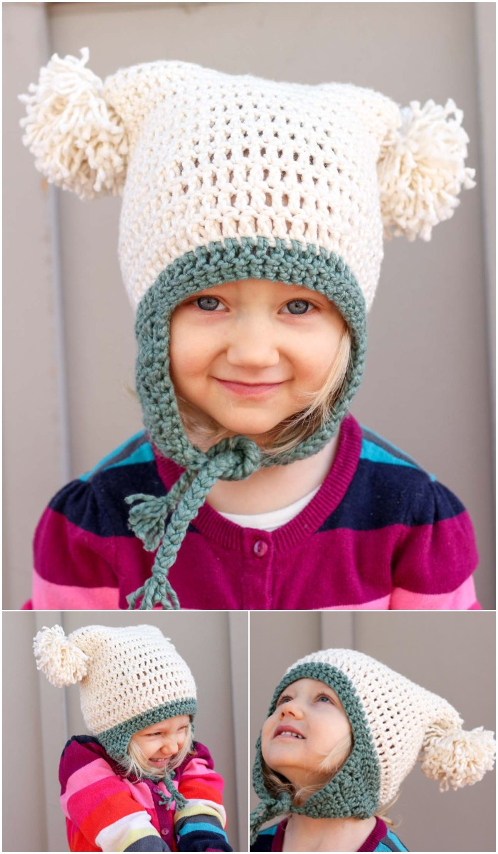 "Pom Pom Party"" Free Beginner Crochet Hat Pattern (Newborn – Adult)"