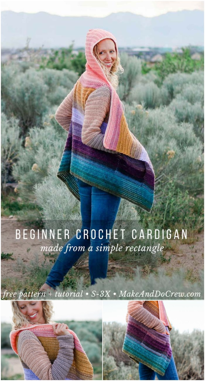 Remix Draped Crochet Cardigan Free Pattern: