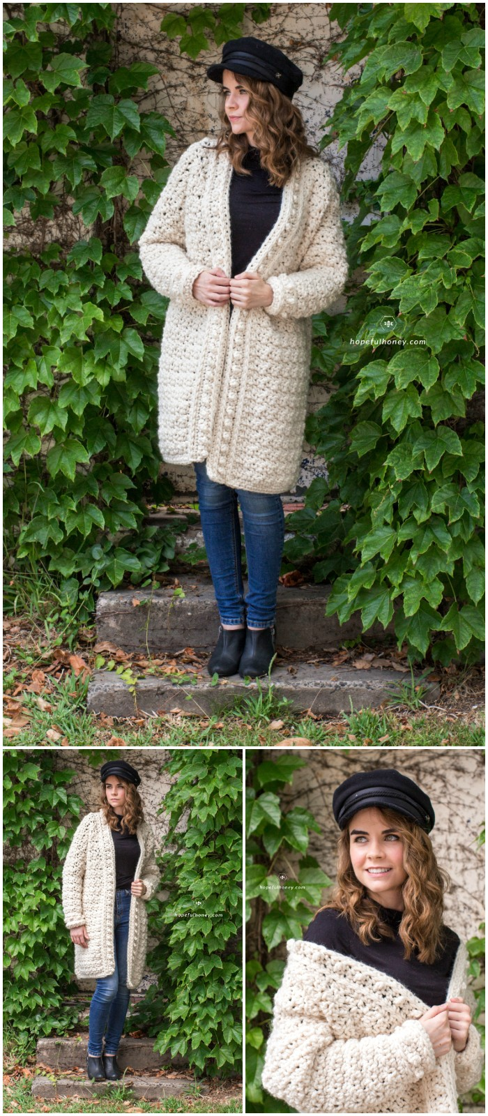 Snow Angel Cardigan Crochet Pattern: