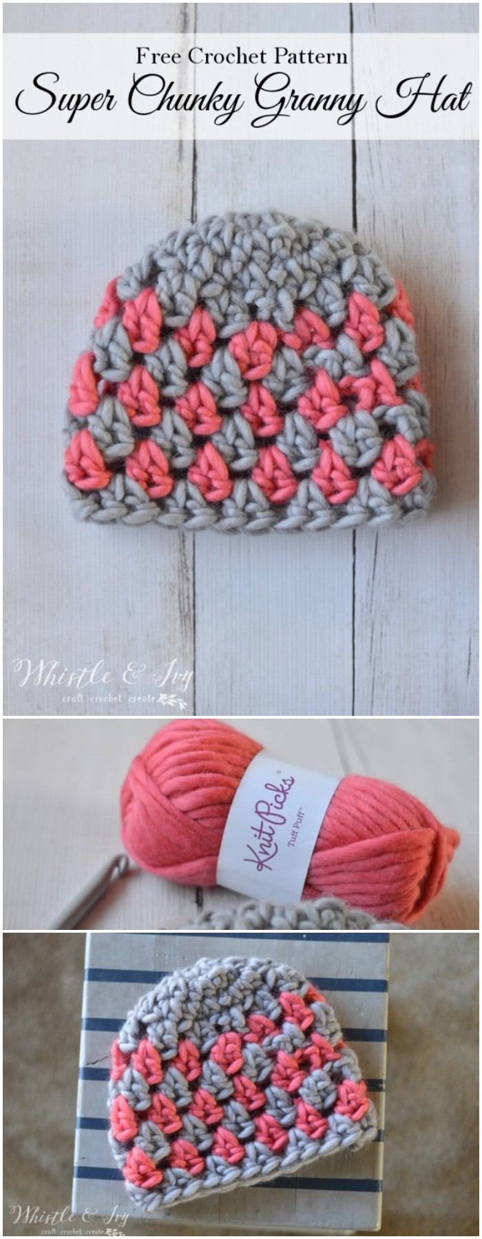 Super Chunky Granny Stitch Hat