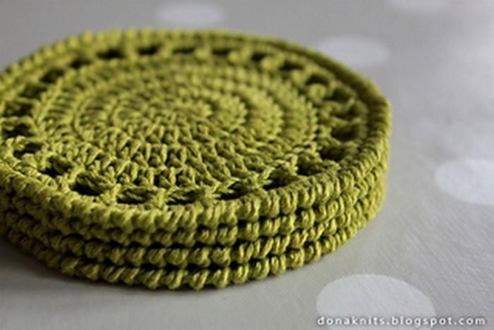 Citrus Crochet Coaster