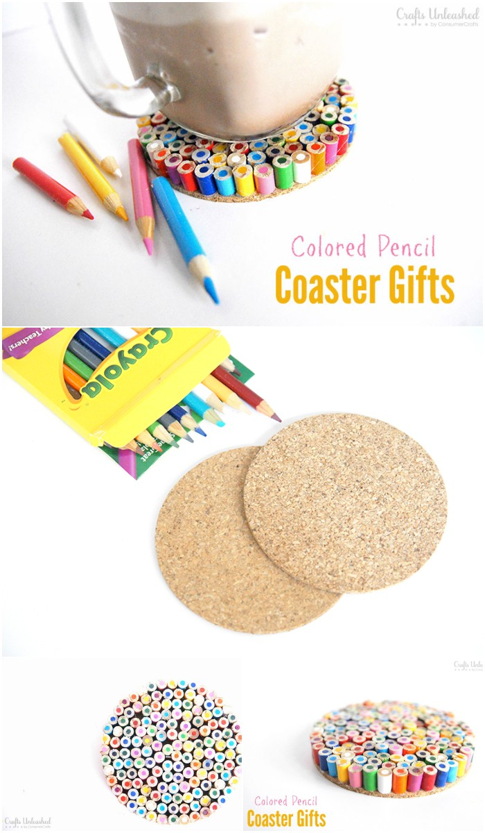 Colored Pencil DIY Coaster Gifts For Teachers