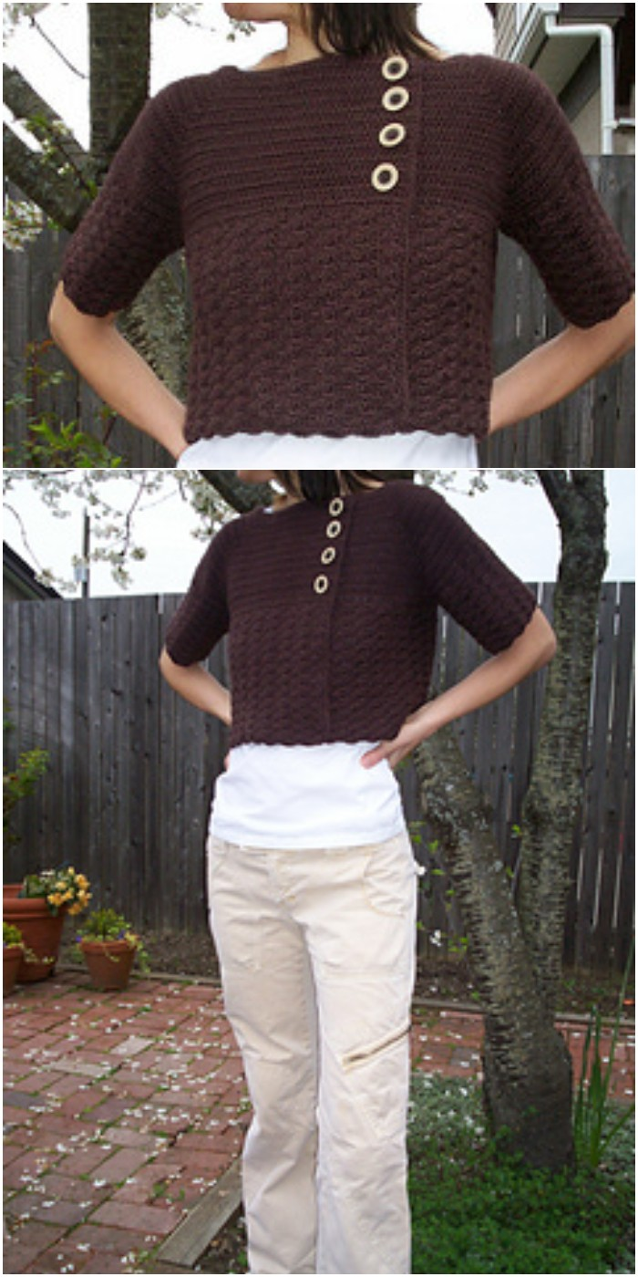 Crochet Crop Cardigan