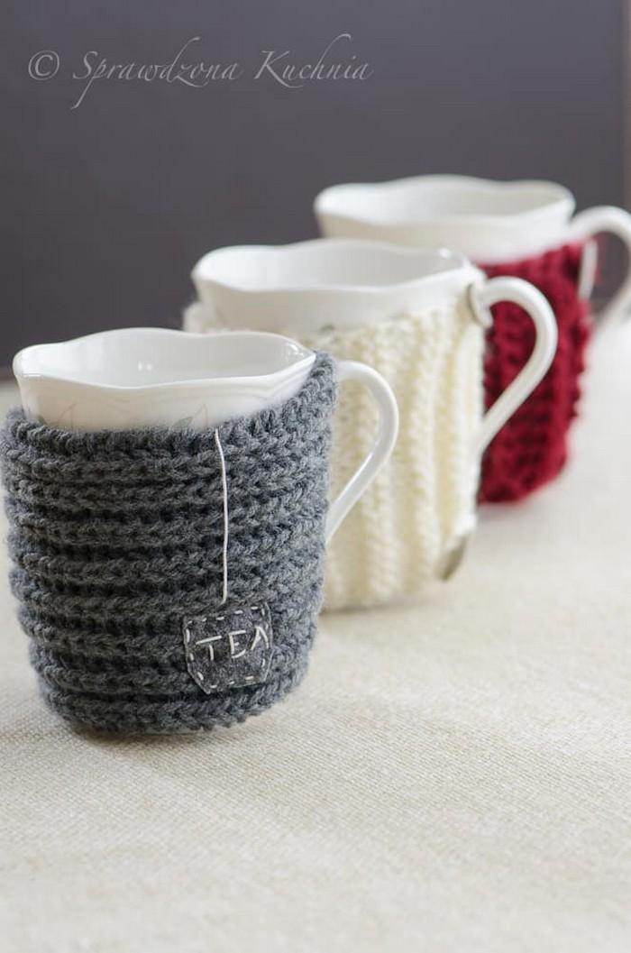 Crochet Sweater Mugs