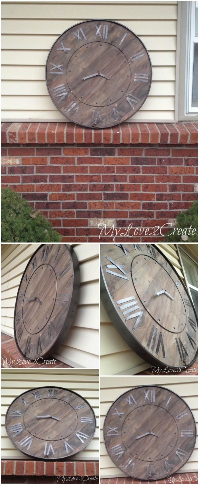DIY Large Rustic Clock