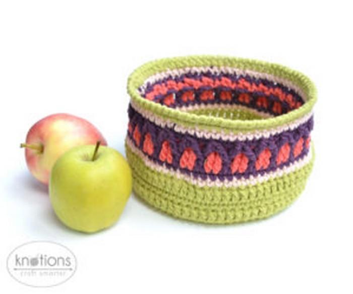 Apple Basket Free Crochet Pattern