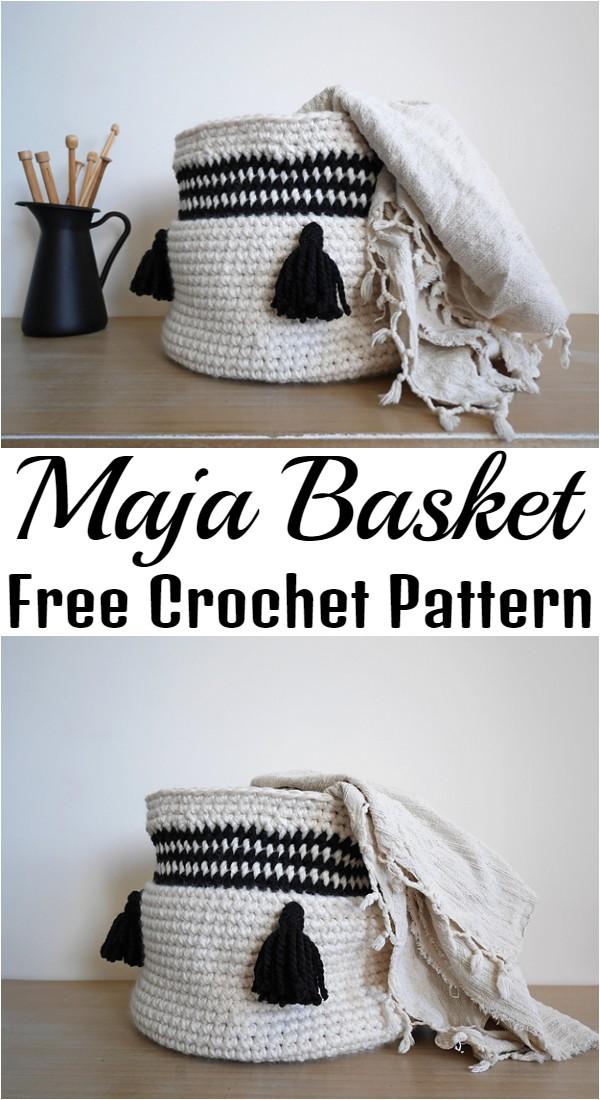 Free Crochet Maja Basket Pattern