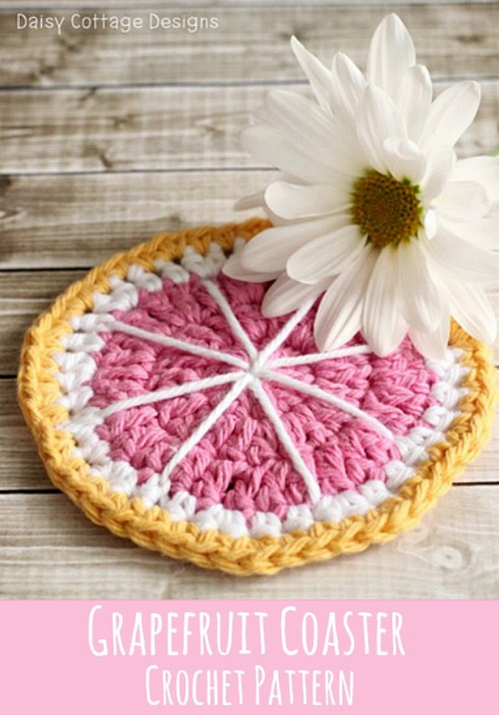 Grapefruit Coaster Crochet Pattern