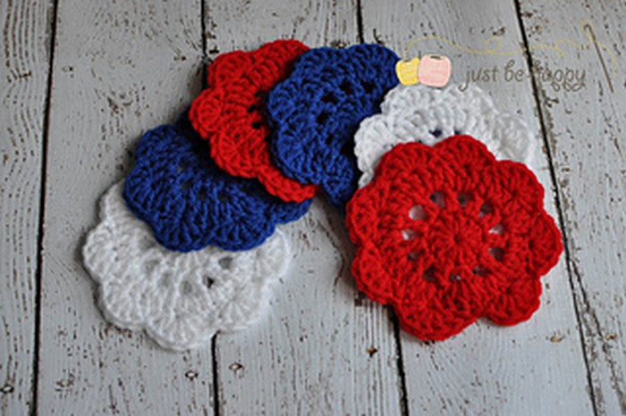 Happy Doily Coasters