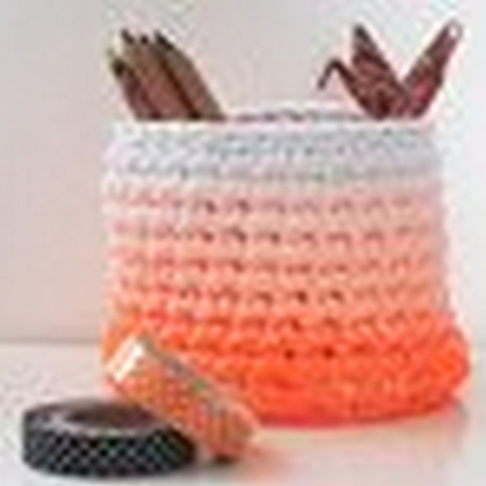 Ombre Crochet Basket