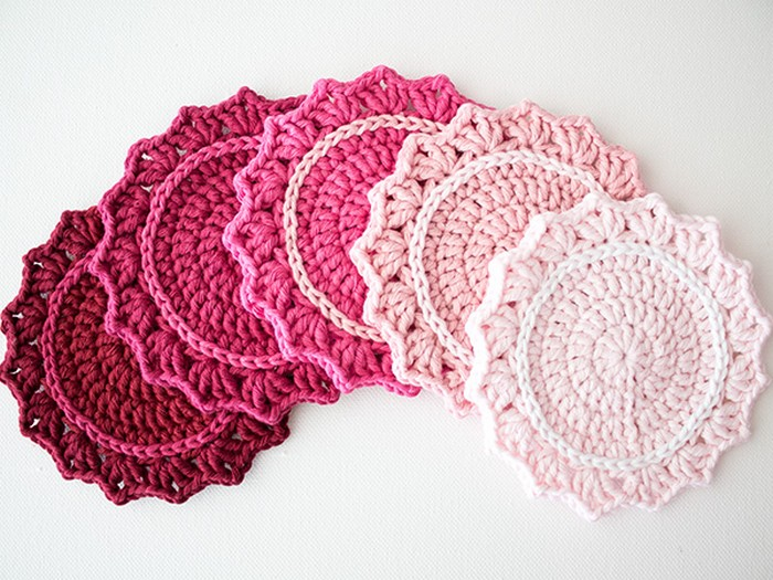 Ombre Crocheted Coasters
