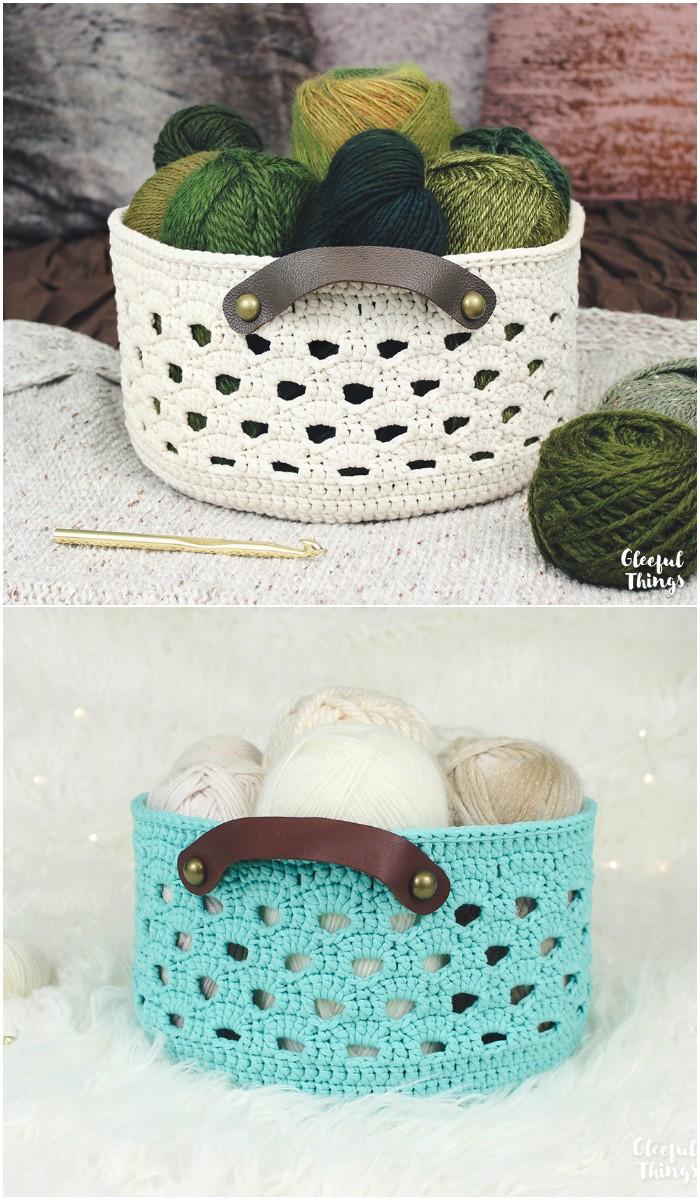 Rustic Lace Basket | Crochet Pattern