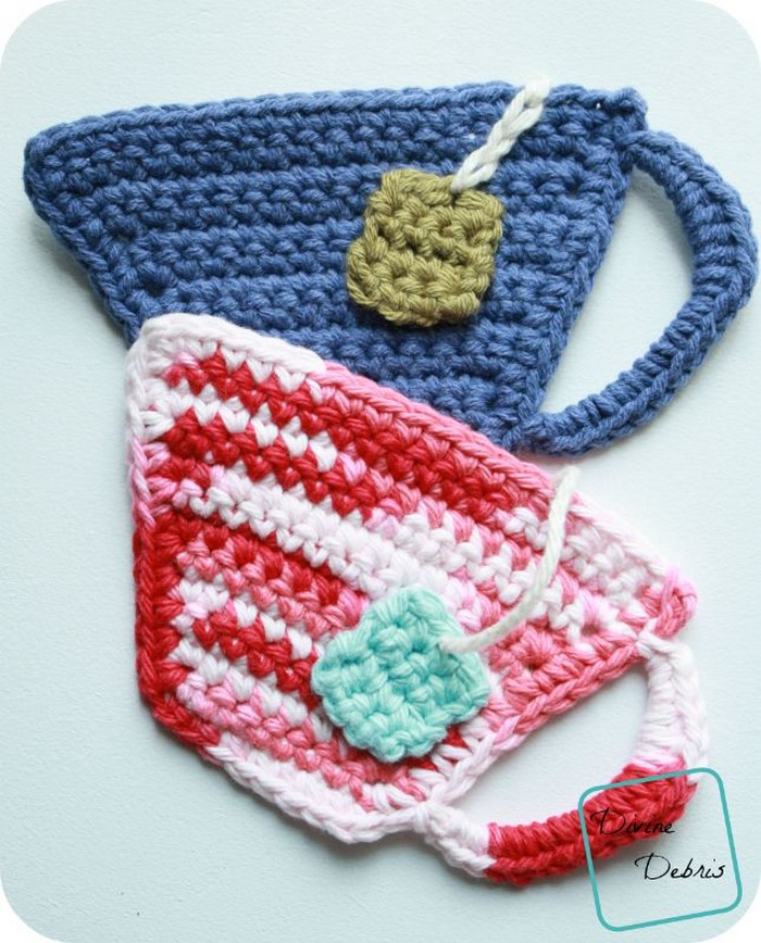Tea Cup Crochet Coasters