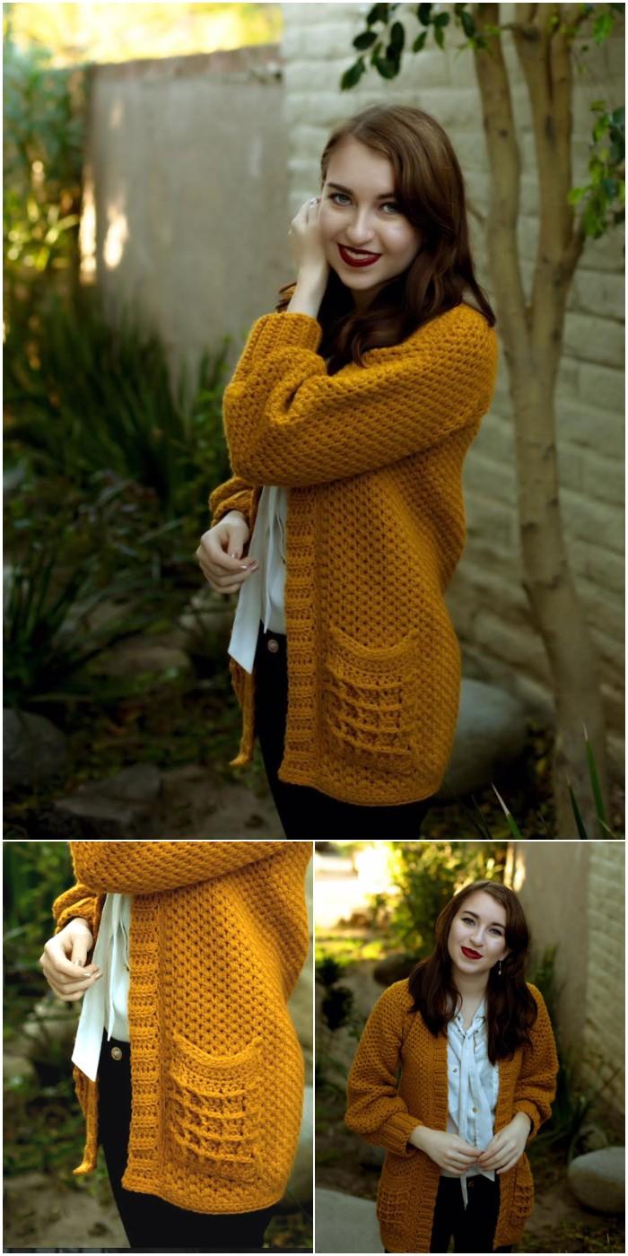 The Waffle Cardigan Crochet Pattern