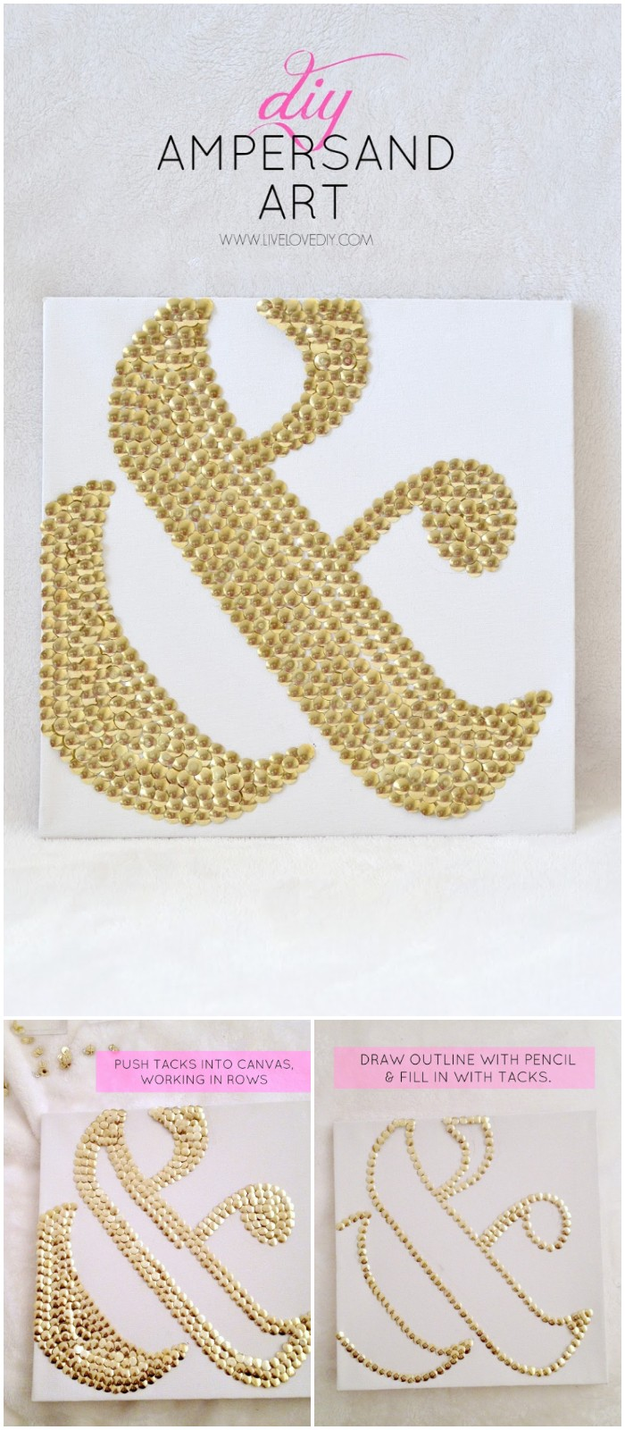 Thumbtacks Ampersand Art