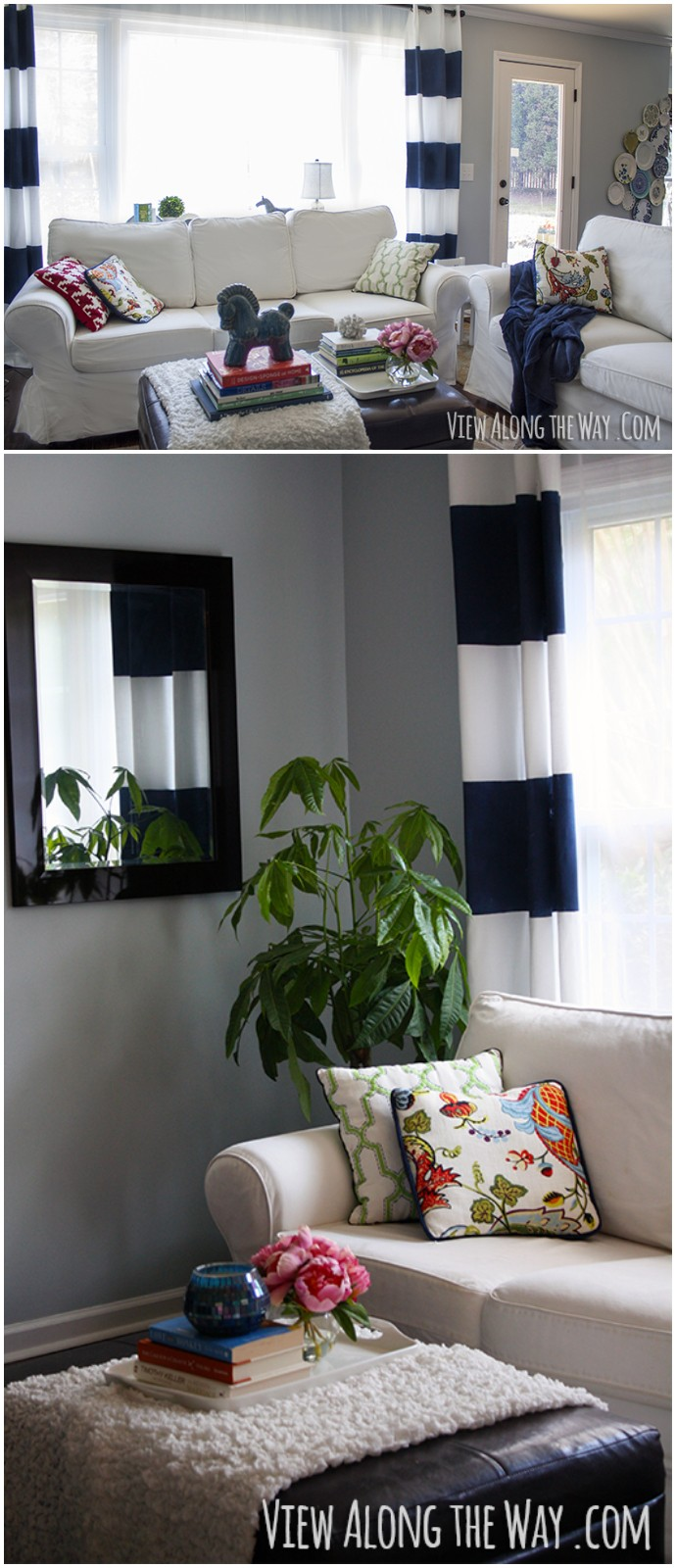 A Striped Curtain Tutorial