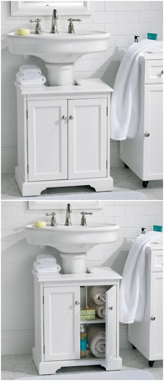 Bathroom Pedestal Sink Storage Cabinet
