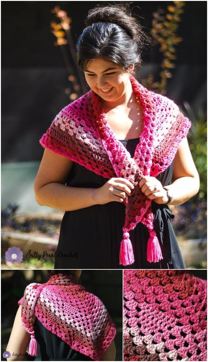 Bless Your Heart Granny Triangle Shawl