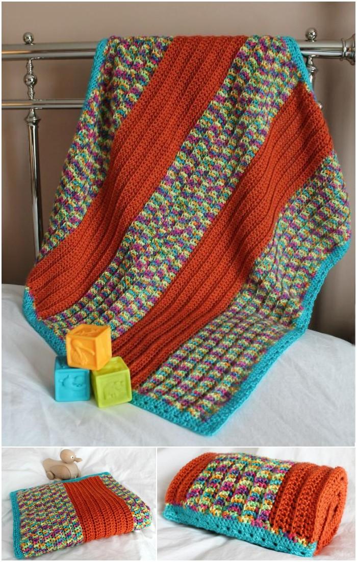 Broad Stripe Baby Blanket