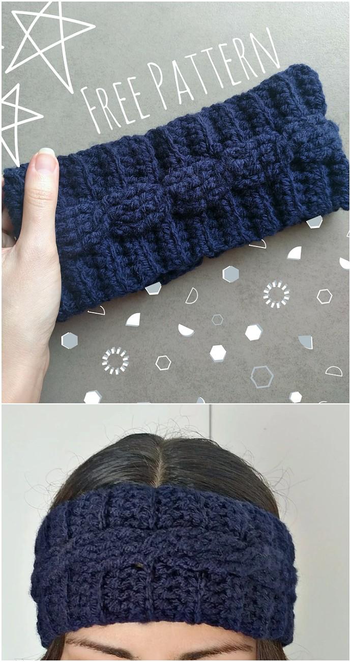 Cable Crochet Ear Warmer
