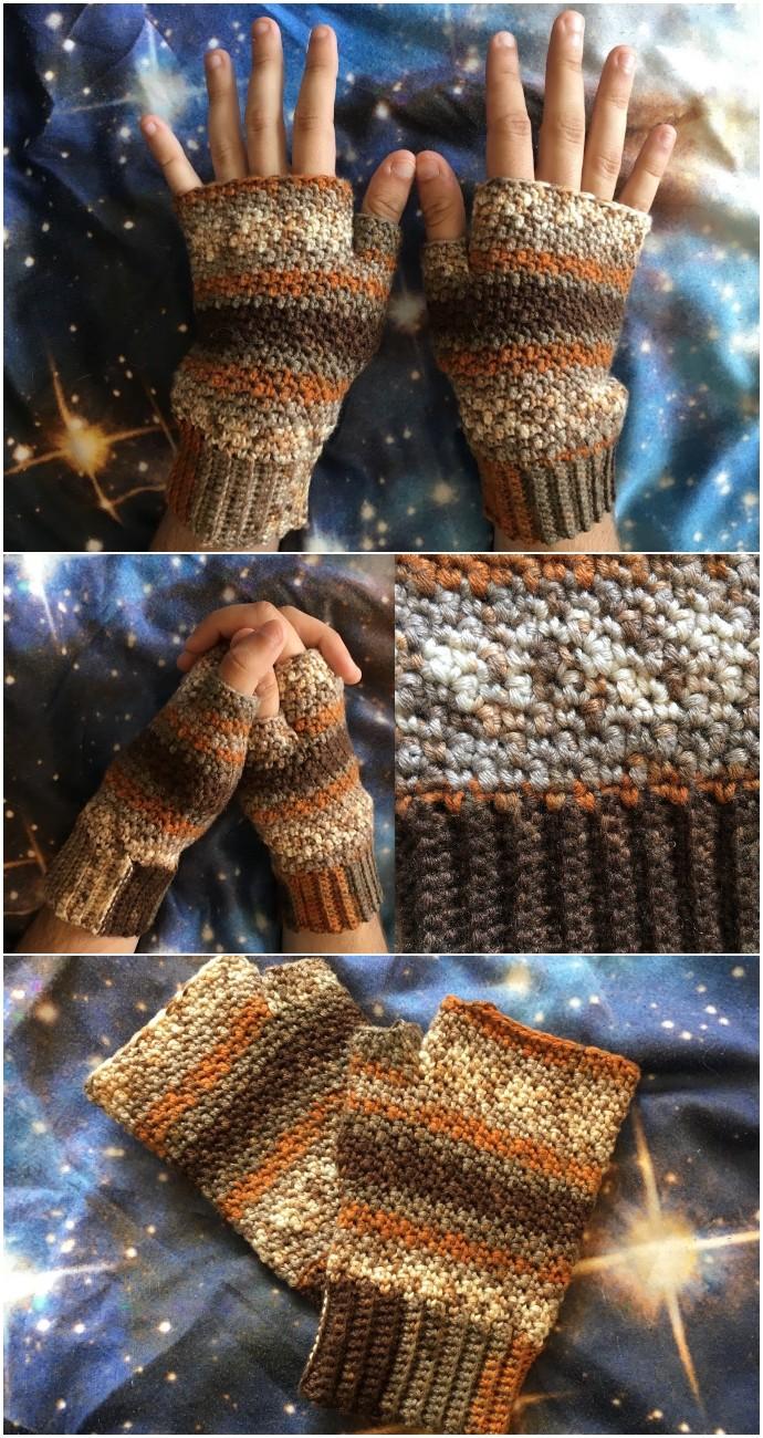 Crochet Pattern Griddle Stitch Mitts