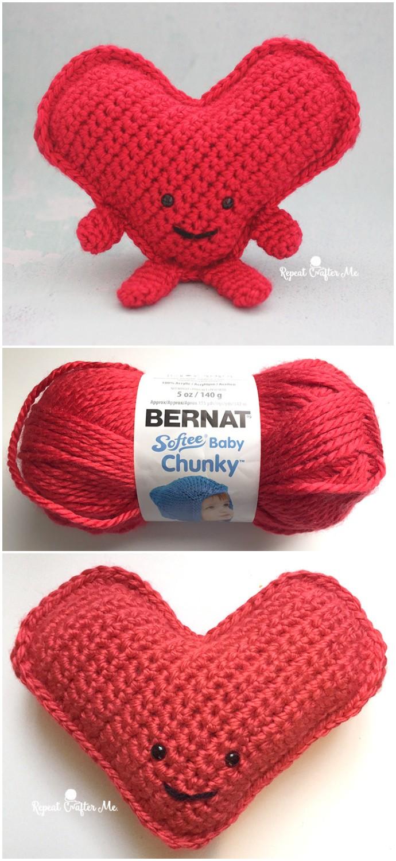 Cuddly Crochet Heart