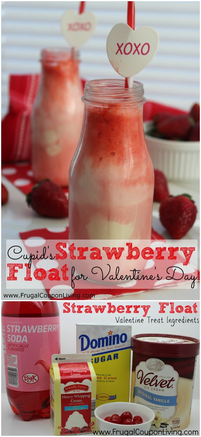 Cupid's Strawberry Float Recipe