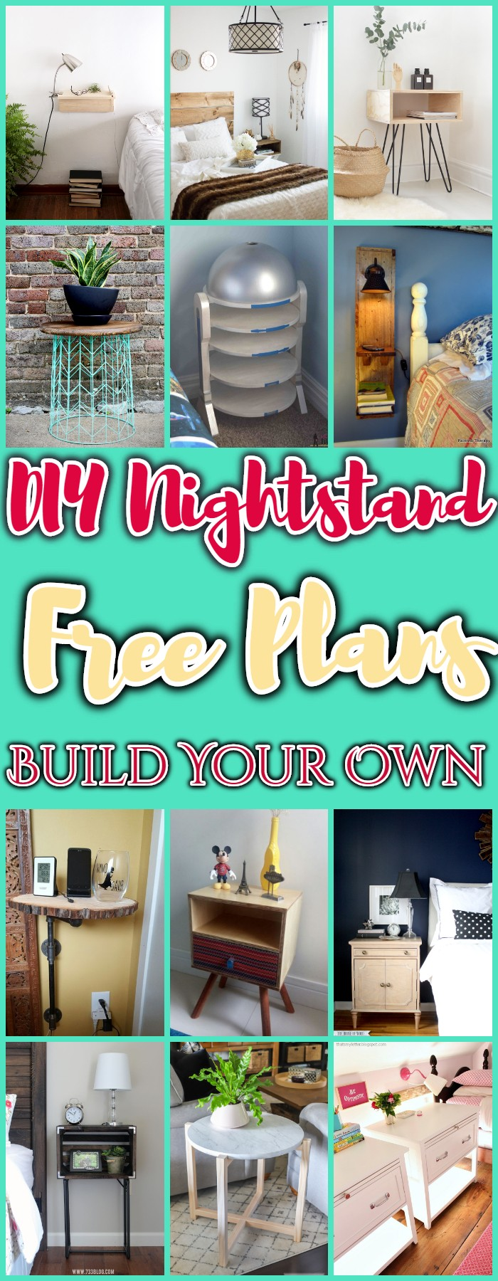 DIY Nightstand Free Plan