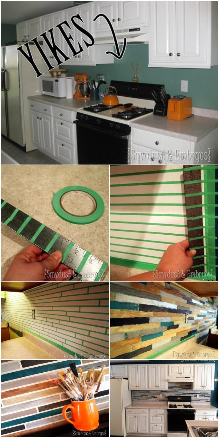 DIY Paint A Backsplash