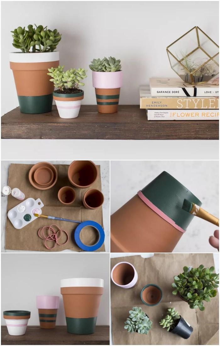 DIY Painted Terracotta Flower Pots