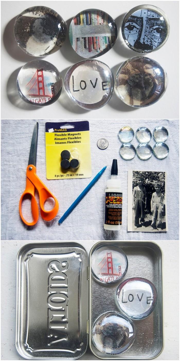 DIY Photo Fridge Magnets Minutes