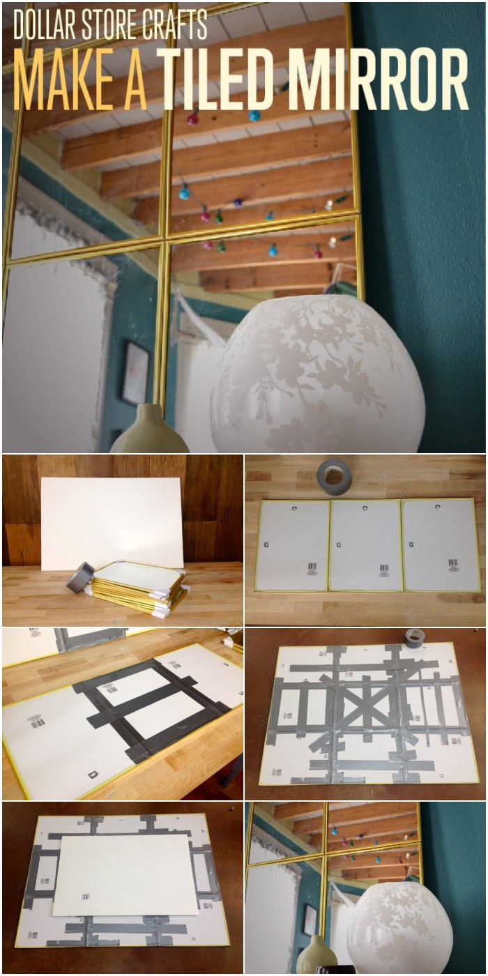 DIY Tiled Mirror
