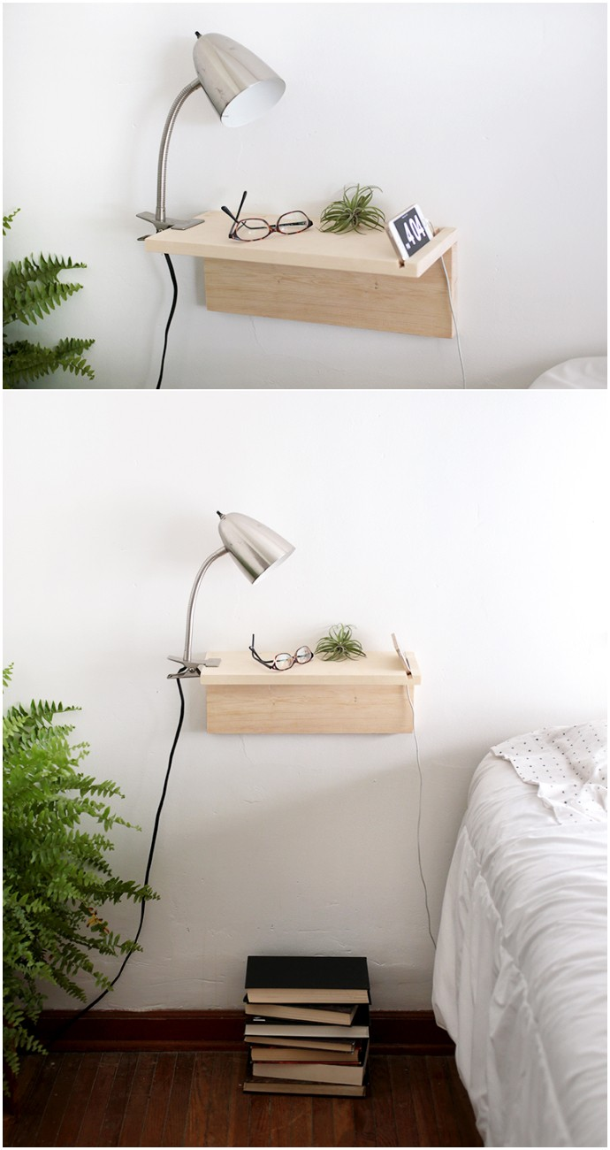 Diy Floating Nightstand
