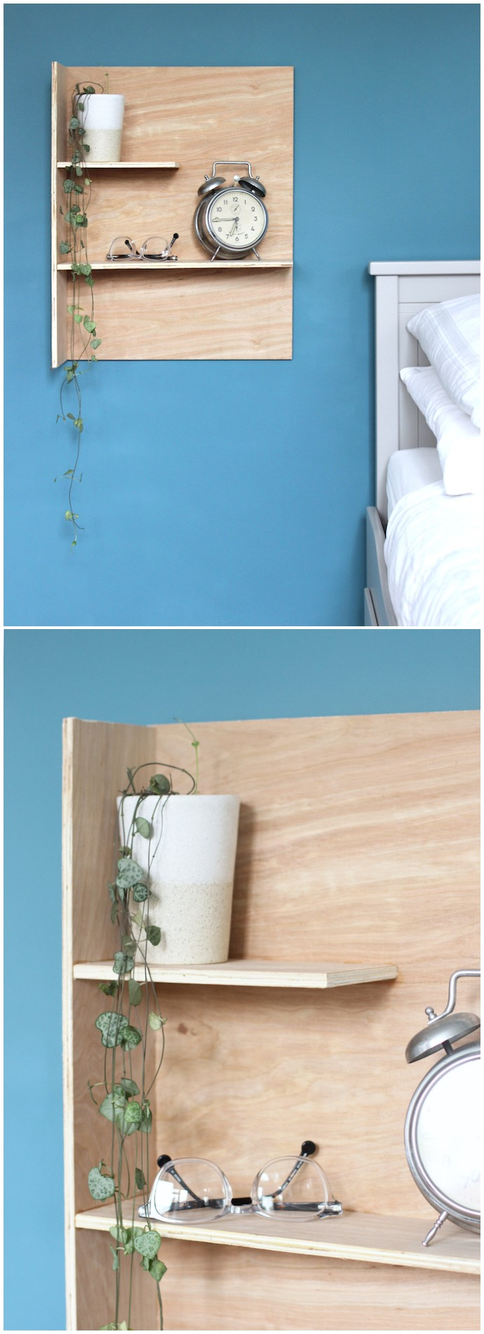 Diy Plywood Bedside Shelves