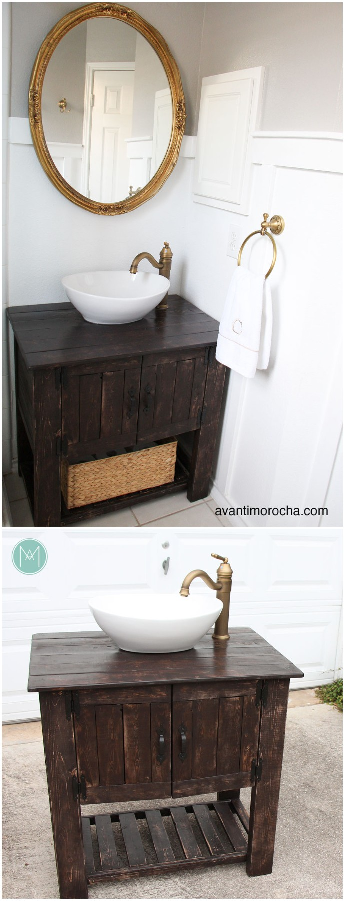 Diy Rustic Bathroom Vanity