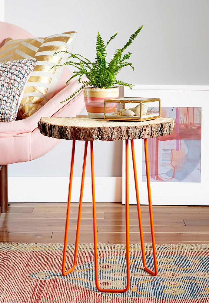 Diy Tree Slab Side Table In Redbook