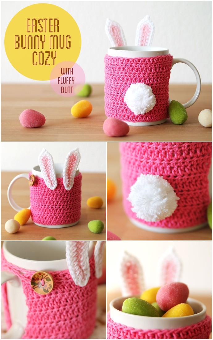 Easter bunny mug cozy