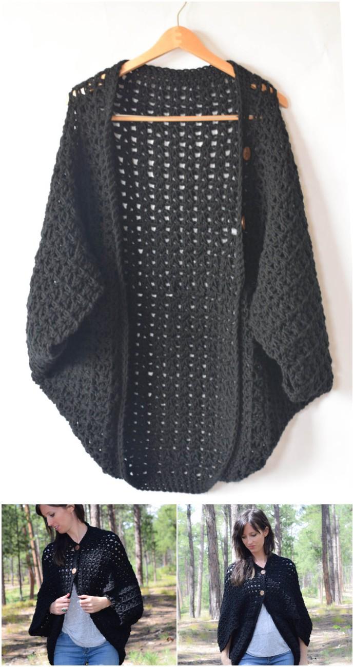 Easy Blanket Sweater Crochet Pattern