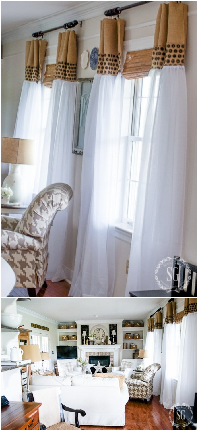 How To Update Sheer Curtains