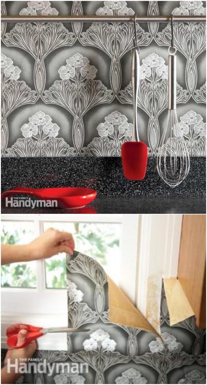 Kitchen Wallpaper Backsplash